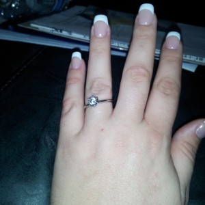 1st time on finger